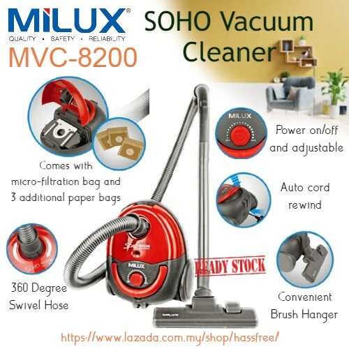 Milux Soho Vacuum Cleaner MVC-8200 MVC82001600W Penyedut Habuk
