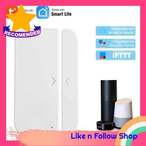 WiFi Door Alarm Window Sensor Detector Smart Home Security Tuya SmartLife App Control Compatible Amazon Alexa Google Assistant IFTTT (Standard)