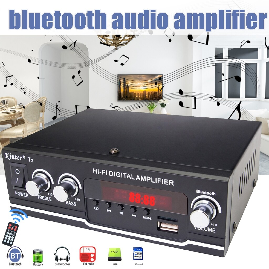 Amplifiers & Receivers - Black BT Power Music Stereo Receiver Home Audio Amplifier-3c - Home Entertainment