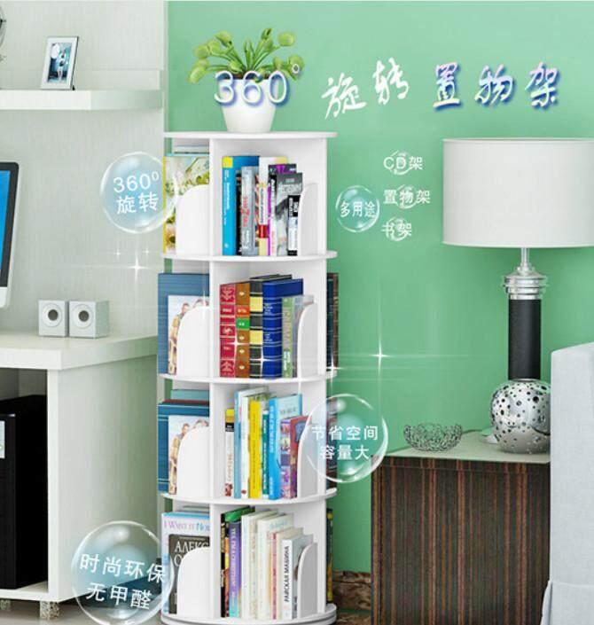 Ready Stock 3 Layer Creative Rotating Bookshelf 360 degree book rack bookcase
