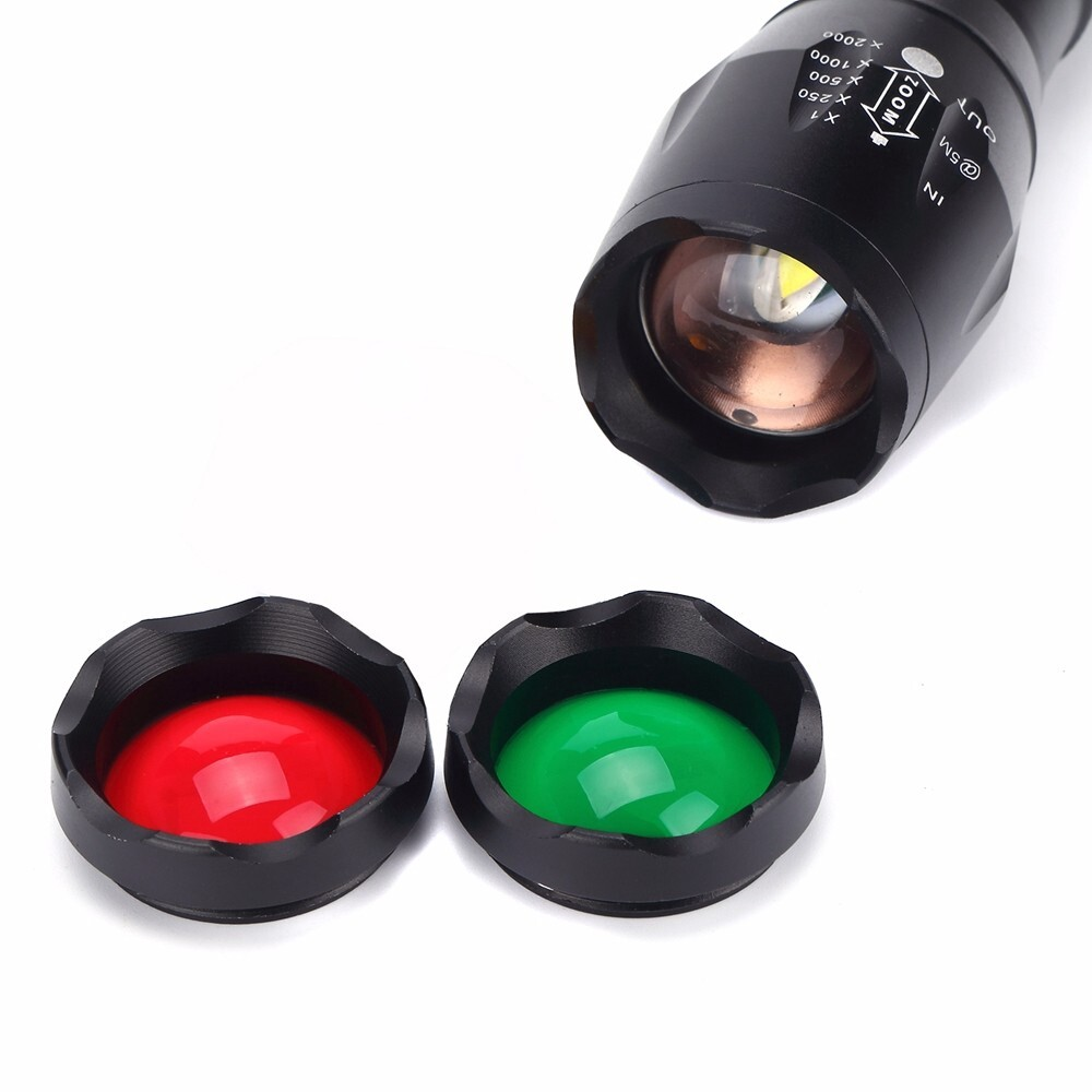 Car Lights - Alonefire G700-N XM-L T6 2000LM 5Modes Zoomable Red & Green & White Light LED - Replacement Parts