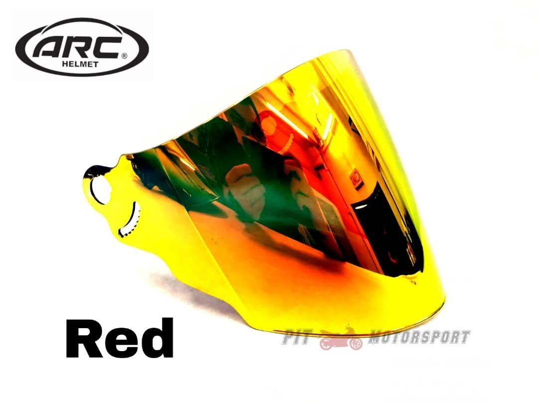 Visor Helmet ARC RITZ 100% Original Smoke Red Blue Gold Rainbow Accessories Topi MT15 R15 CBR250RR Y16ZR EX5 Y15ZR LC135