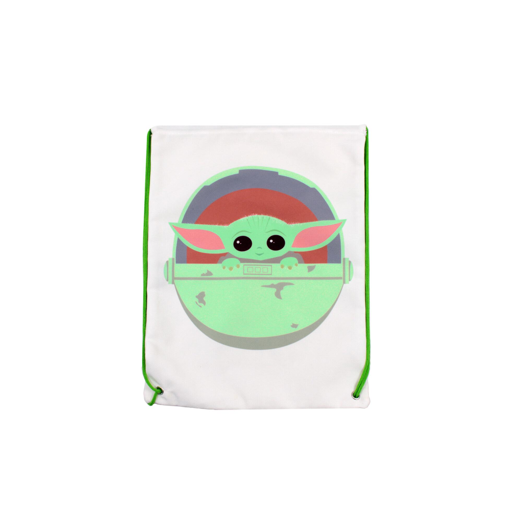 Star Wars Mandalorian Canvas Drawstring Bag For Children