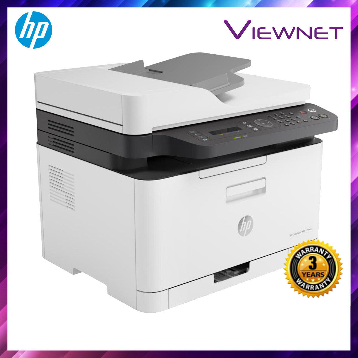 HP COLOR LASER MFP M179FNW PRINT SCAN COPY FAX NETWORK WIRELESS