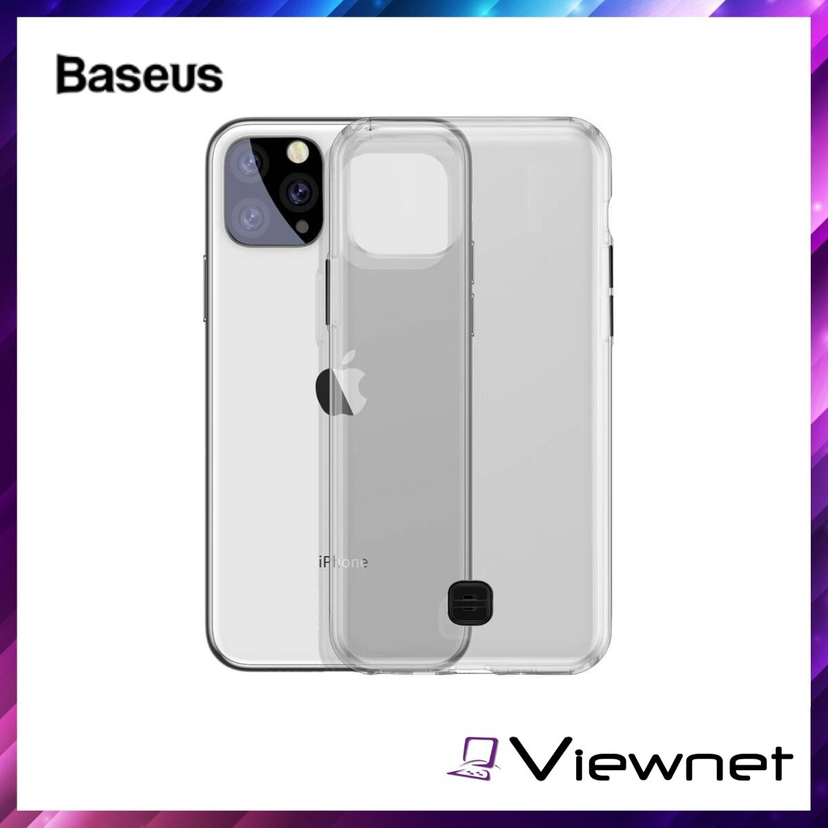 Baseus Transparent Key Phone Case For iPhone 11 Pro 5.8inch, TPU Material, Easy-to-carry Wrist Strap, Shockproof, Impact Resistance, Transparent / Transparent Black
