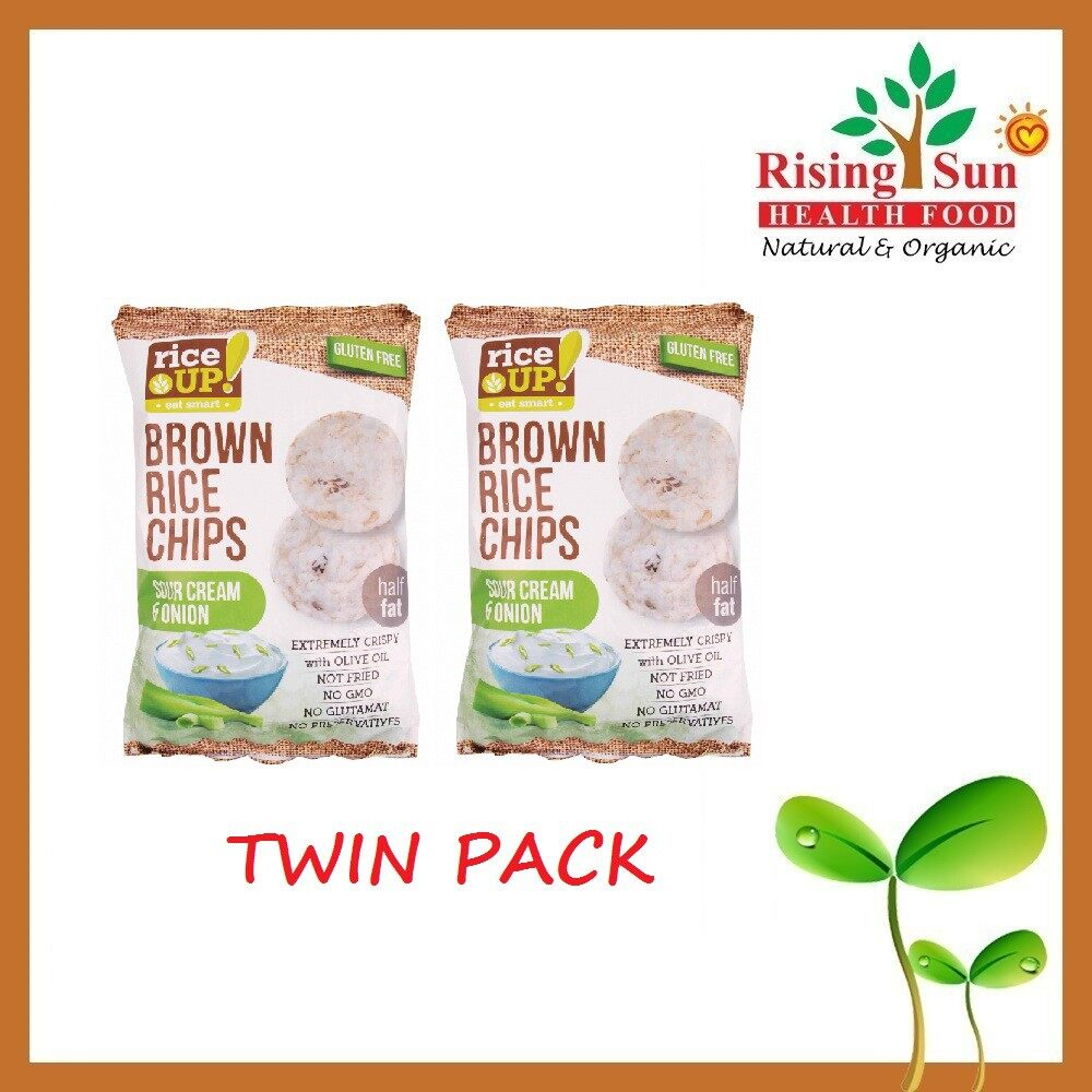 Rice Up Brown Rice Chips With Sour Cream & Onion 65G x2 - TWIN PACK