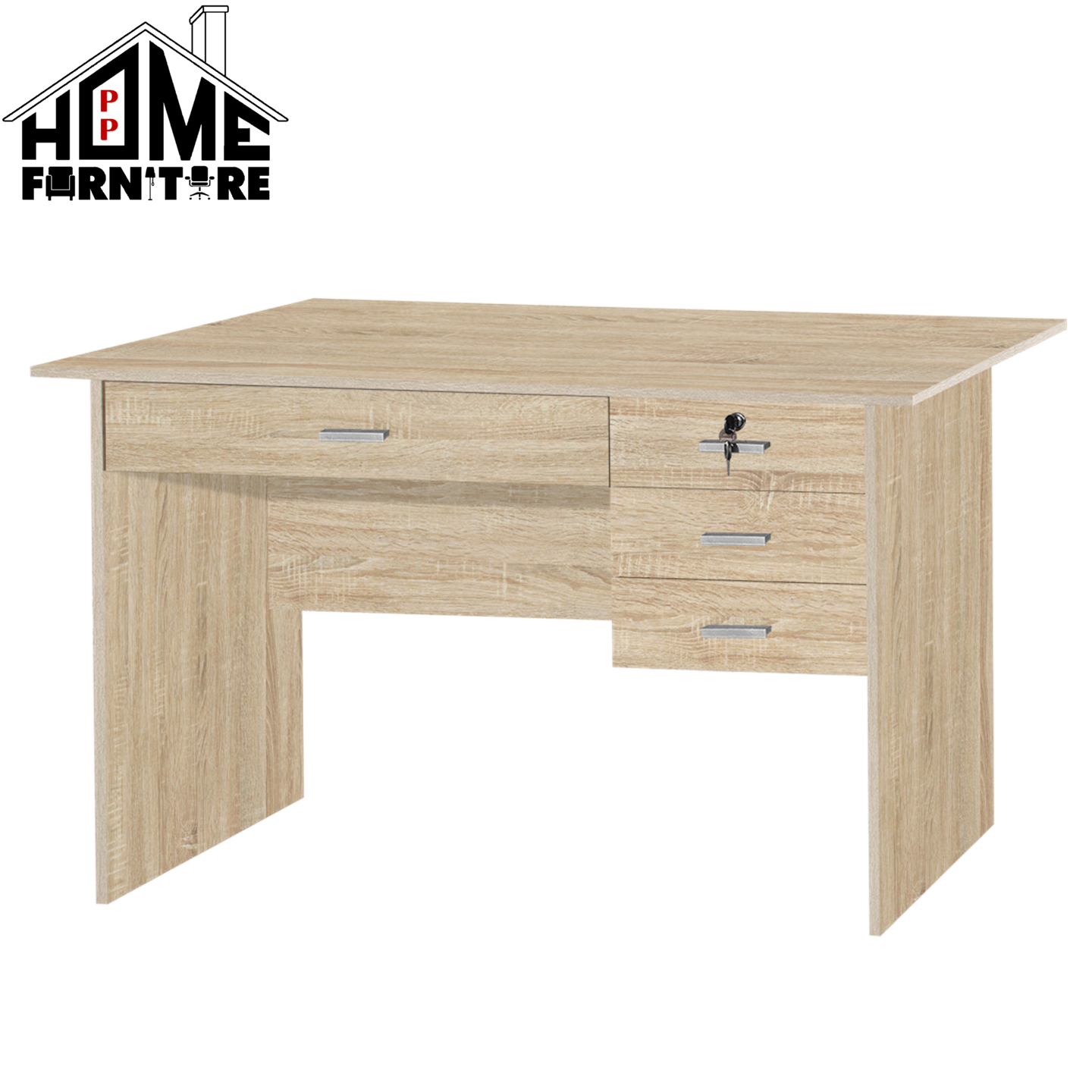 PP HOME Study Table with drawer locker/Writing table/Working table /PC table/ Student table/Home office table/Multipurpose table/Desk/Computer table/Destop/laptop/Meja belajar/Meja tulis/Meja kerja/komputer电脑桌/书桌/工作桌/读书桌/办公桌WT2424