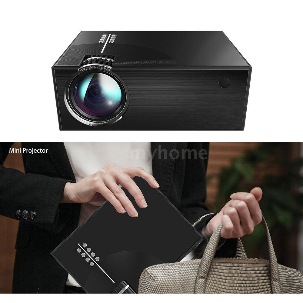 Printers & Projectors - PORTABLE LCD Projector Full HD LED Projector Can Synchronize Smart Phone Screen 1080P Supported - Computer & Accessories