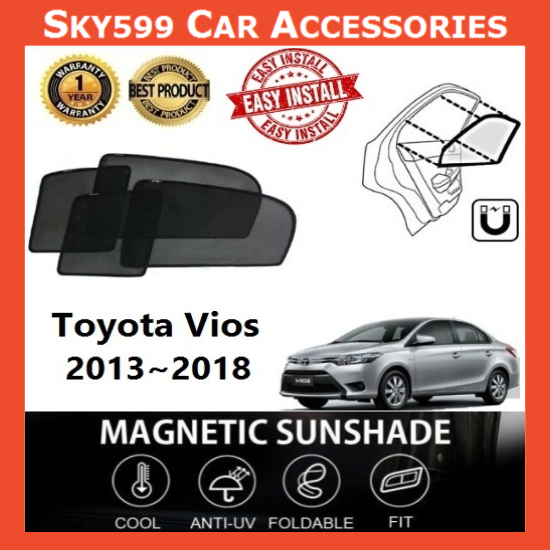 Toyota Vios 2013-2018 Magnetic Sunshade ?4pcs?