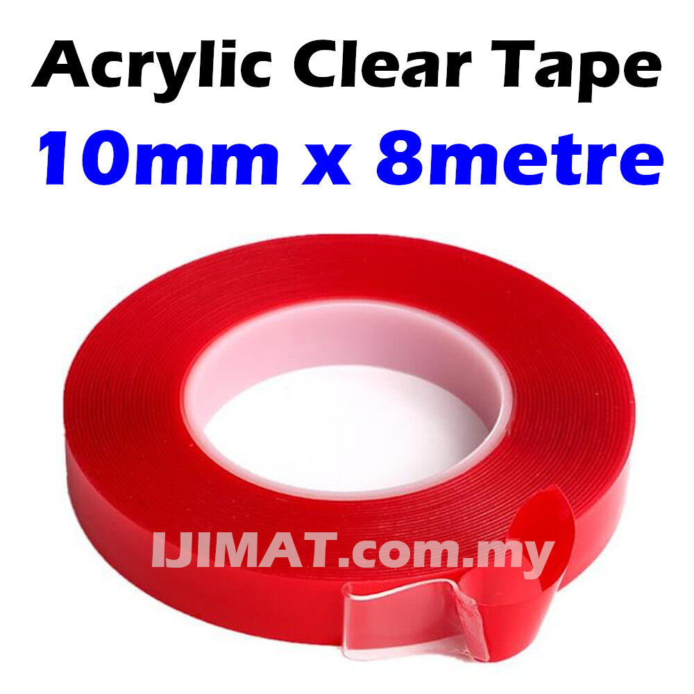 Heavy Duty Double Sided Tape / Acrylic Tape Foam Adhesive Tape / Transparent Clear Double Sided Tape (8Metre)
