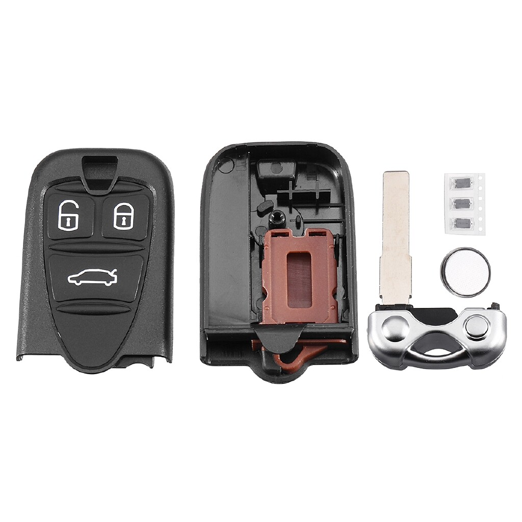 Car Accessories - 3 Buttons Remote Key Fob Case w/ CR2032 For Alfa Romeo Brera/156/159/GT - Automotive