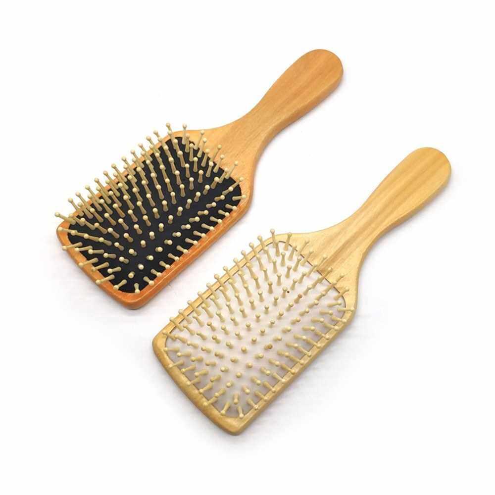 1Pcs Hair Brush Wooden Brush Paddle Hair Brushes Massage Scalp Brush Detangling Tail Comb Hair Brush Set for Women Men and Kids Make Thin Long Curly Hair (White)