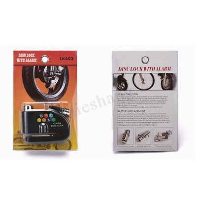 Cycling Apparel - 110DB Motorcycle Alarm Disc Lock Brake Security Bicycle Anti-theft