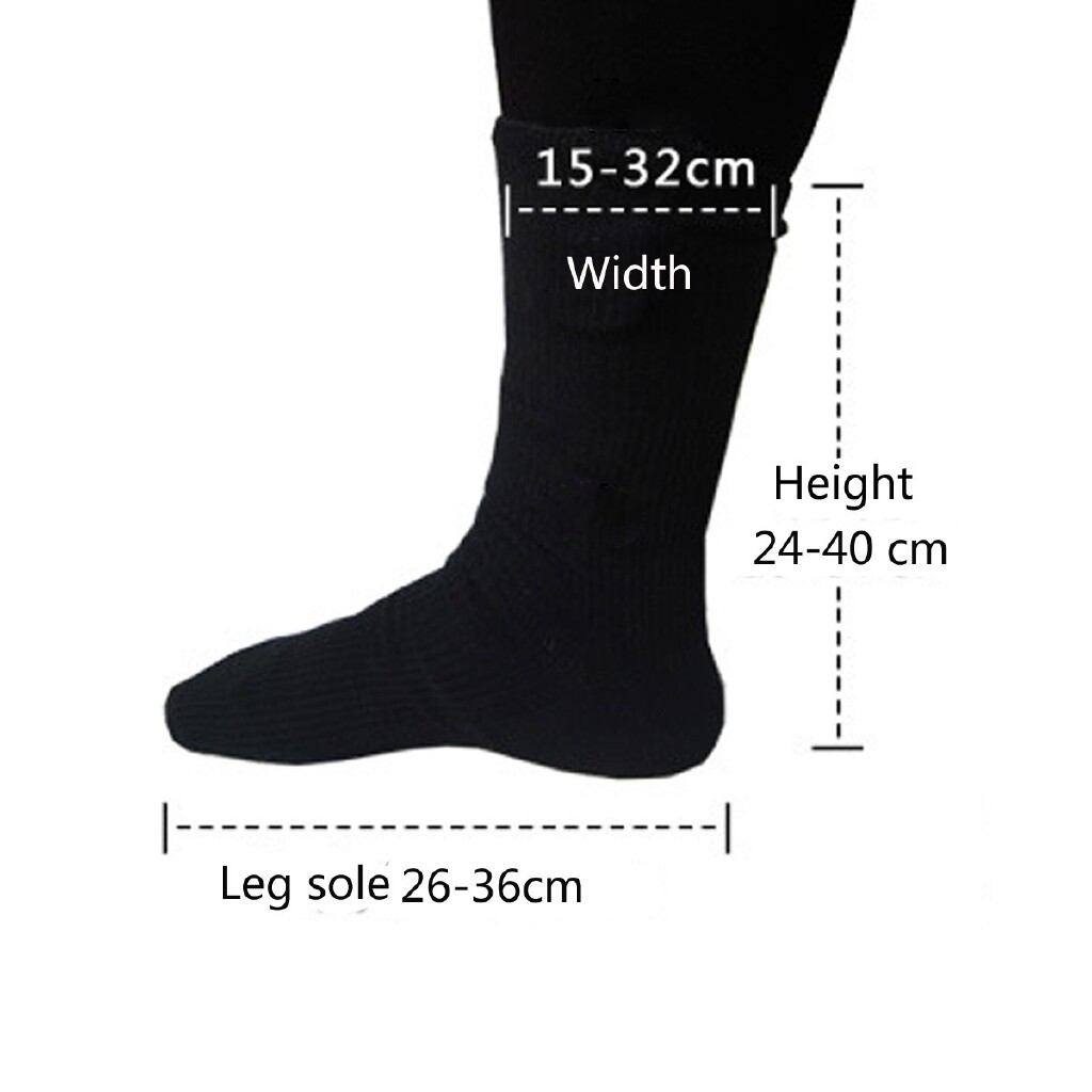 Protective Clothing & Equipment - Batteries Heated Socks Feet Foot Warmer Electric Heater Warm For Winter - BLACK