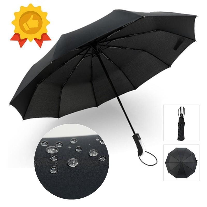 Wind Resistant Folding Automatic Umbrella Rain Women Auto Luxury Big Windproof Umbrellas Rain For - BLACK 10 RIBS / BLACK 8 RIBS / RED 10 RIBS / RED 8 RIBS / BLUE 10 RIBS / BLUE 8 RIBS / COFFEE 10 RIBS / COFFE 8 RIBS / PURPLE 10 RIBS / PURPLE 8 RIBS