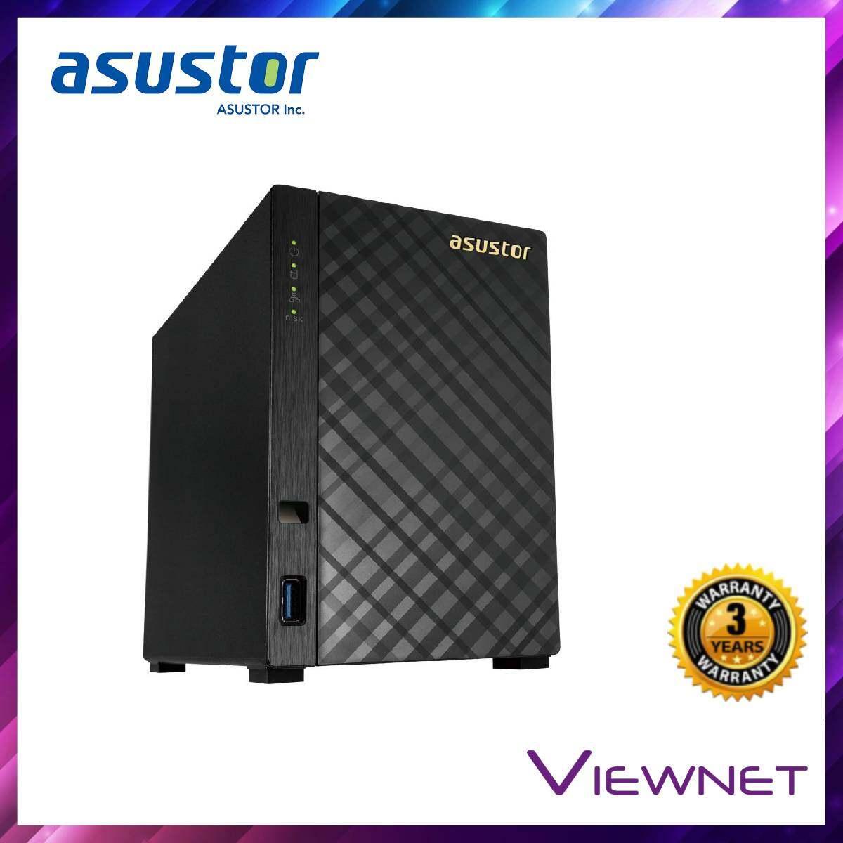 Asustor Enclosure 2-BAYS/Intel Celeron DC 1.6GHz/2GB DDR3L/2*1GBE LAN/HDMI/EXPANDABLE-14U NAS (AS3102T V2)