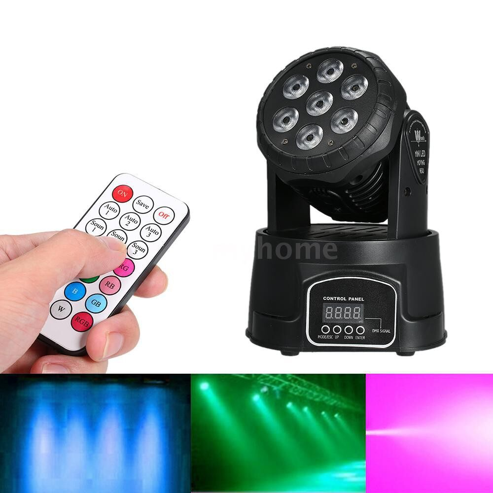 Lighting - AC100-240V 105W 7LED RGBW Stage Light Lighting Fixture with Remote Control Supported DMX512/ Sound - Home & Living
