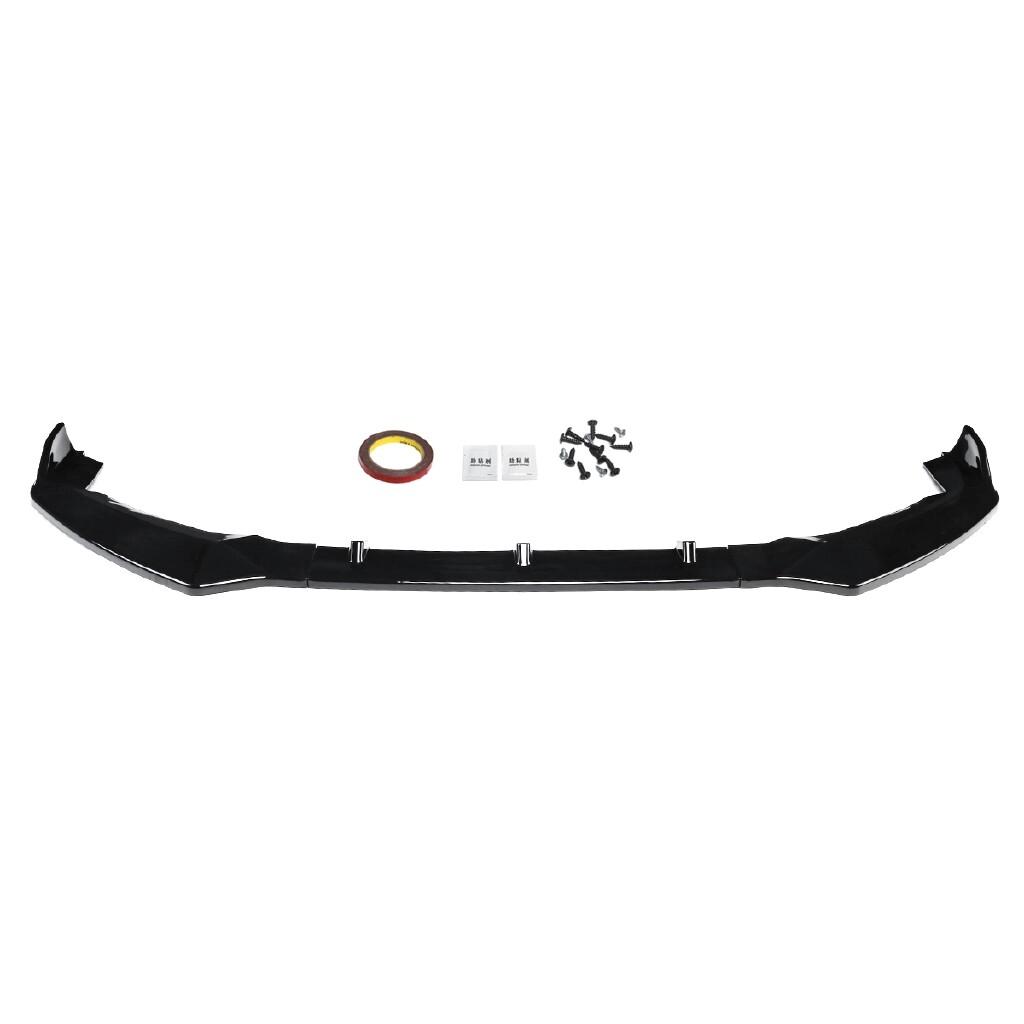 Organizers - 3 PIECE(s) Gloss Black ABS Front Bumper Lip Spoiler Trim For Honda FIT JAZZ - Car Accessories