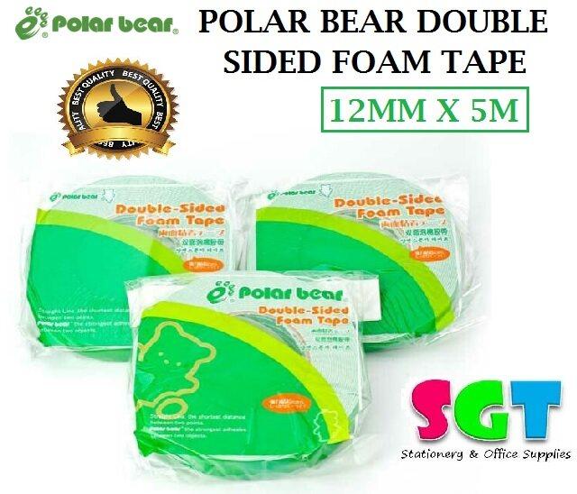 Polar Bear double Sided Foam Tape 12mm x 5M (SP-010)