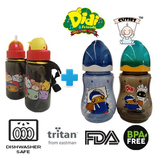 Didi And Friends NEW 350ml Tritan bottle + 9Oz Twins Pack Milk Bottle