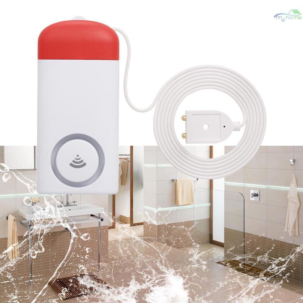 Sensors & Alarms - WIFI Water Leak Sensor Water Leakage Detector WIRELESS Water Level Detector Water Leak Alarm Sensor - WHITE & RED