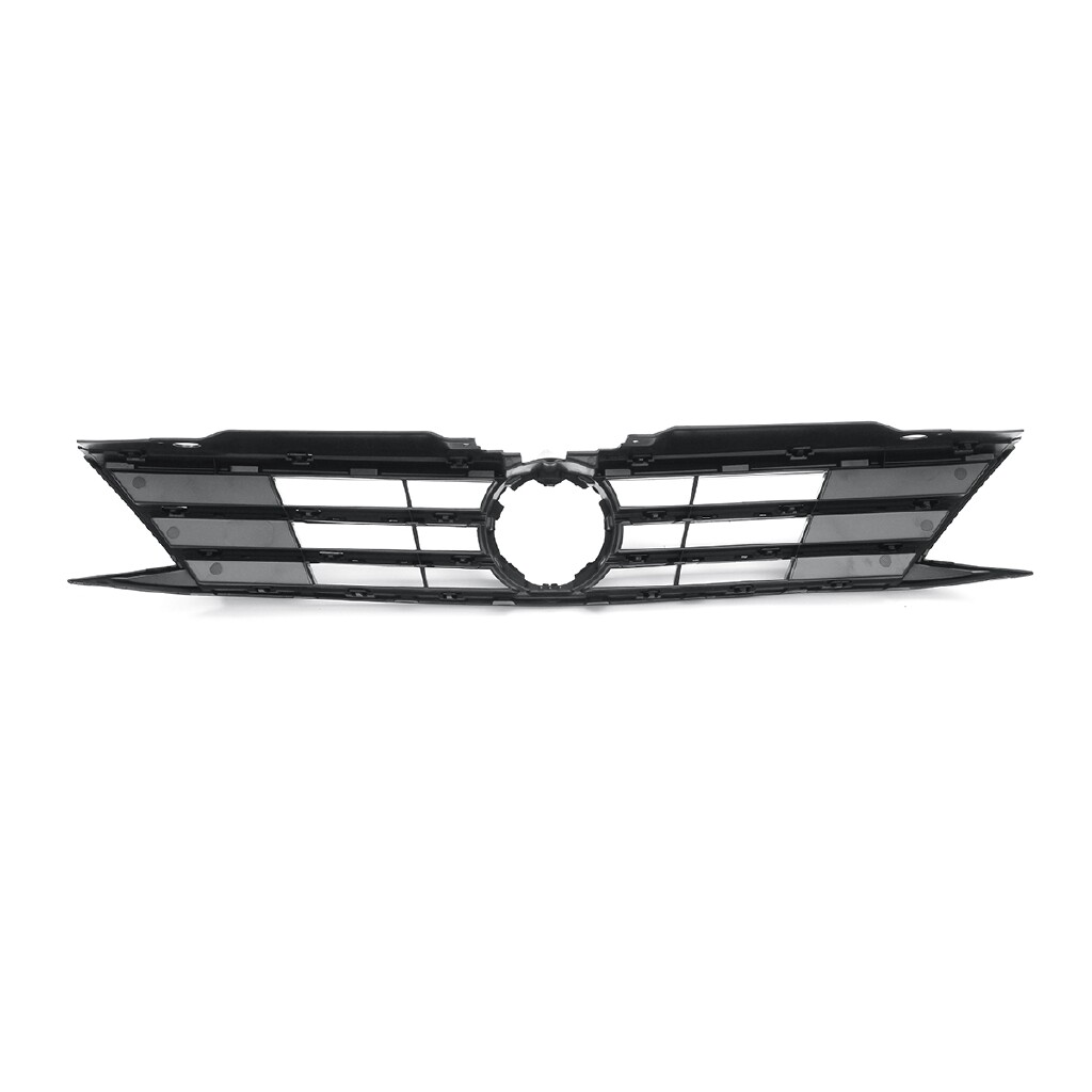 Car Stickers - For 15-17 VW Jetta MK6 Sedan GLI Style Hex Mesh Front Grille - Black w/Trim - Accessories