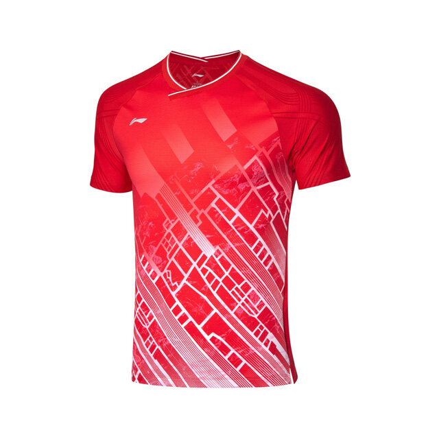Li-Ning Men's Badminton Jersey - Red AAYP331-3