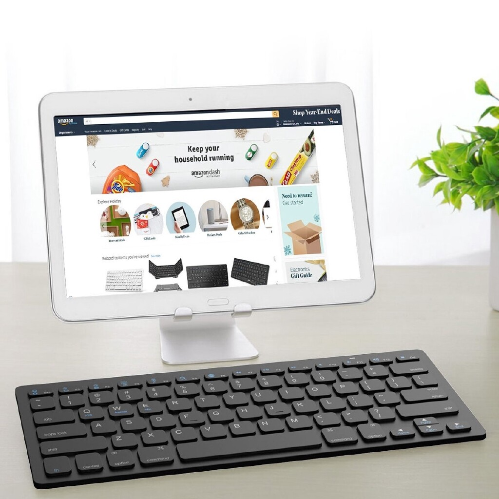 Keyboards - BLUETOOTH3.0 WIRELESS Keyboard Universal ULTRA-thin For IOS /Android / MS - BLACK / WHITE