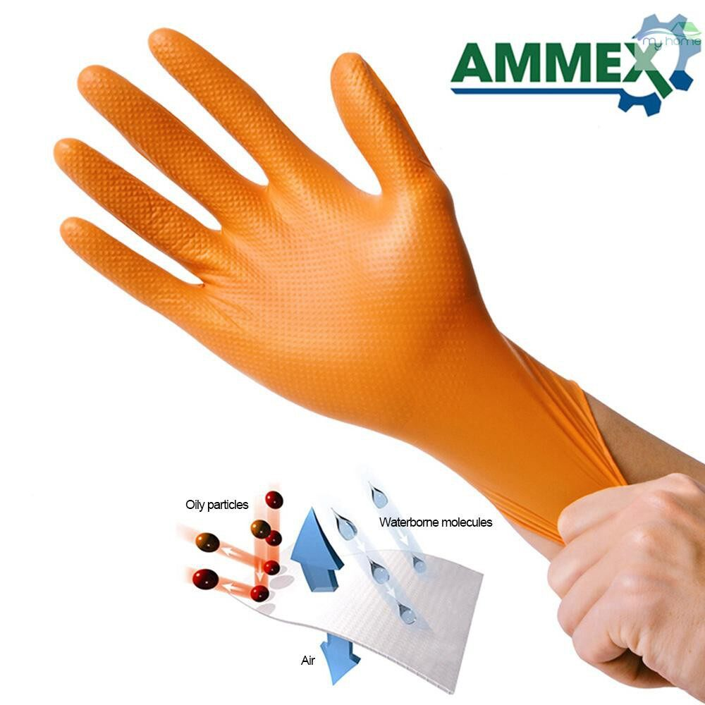 Protective Clothing & Equipment - 100 PIECE(s) Disposable Gloves Thick Rubber Oil Acid Resistant Nitrile Rubber Gloves For Home Food - XL / L / M