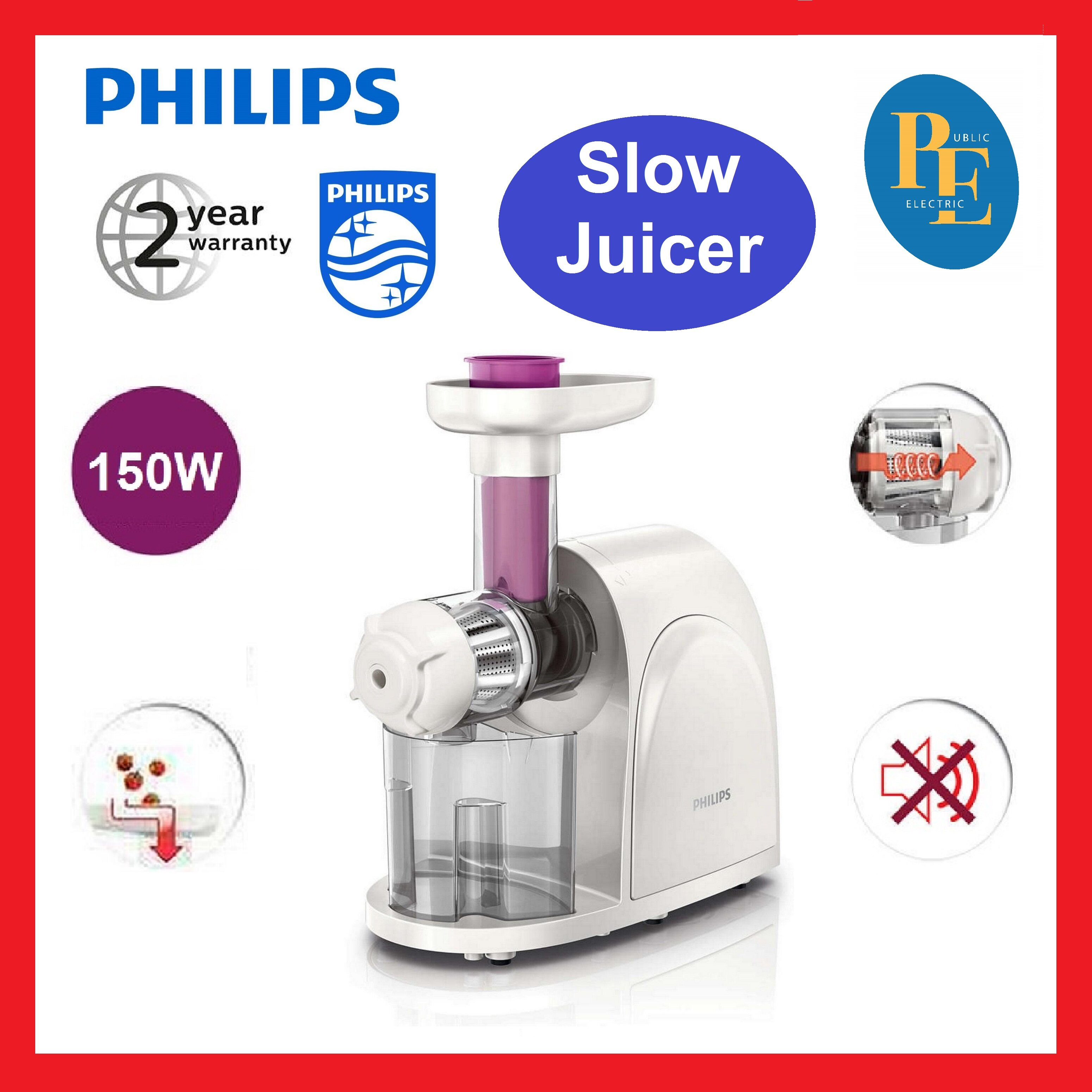 Philips Viva Collection Slow Juicer - HR1830