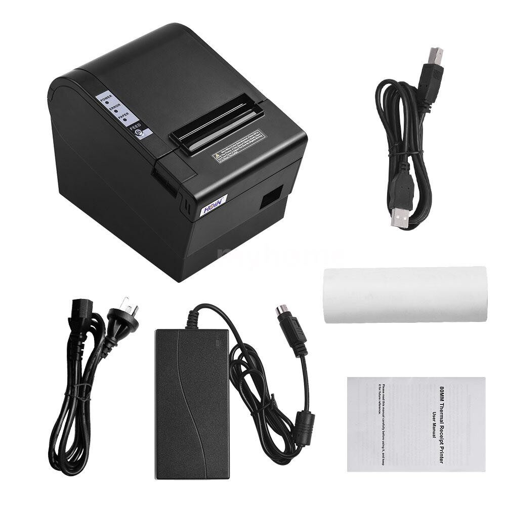 Printers & Projectors - HOIN 80mm Thermal Receipt Printer with Auto Cutter USB Ethernet Interface Ticket Bill printing - Computer & Accessories