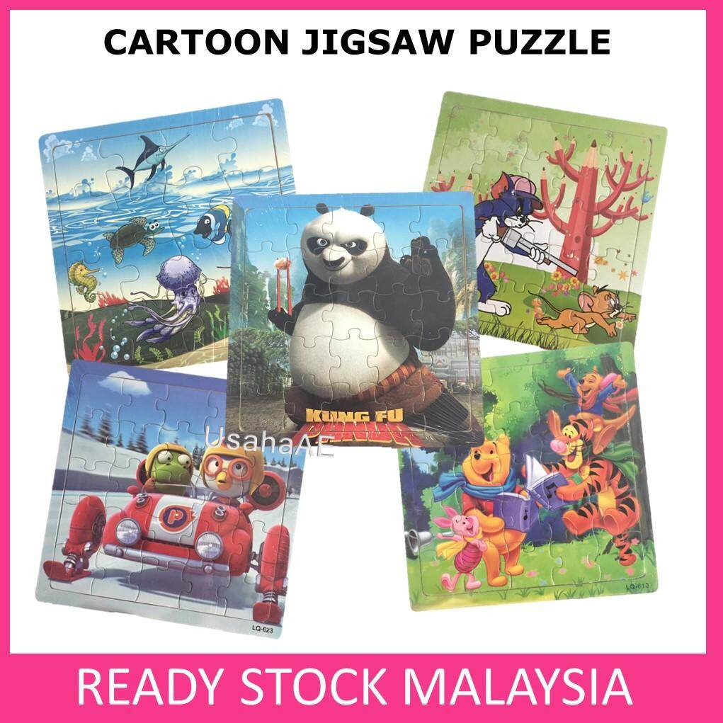 Party Set Wooden Cartoon Puzzle Early Educational Toys Baby Learning Kung Fu Panda Birthday Gift Goodies toys education