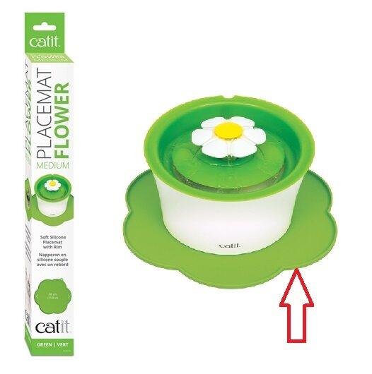 Catit Flower Placemat Medium - Green For Flower Fountain and Dish