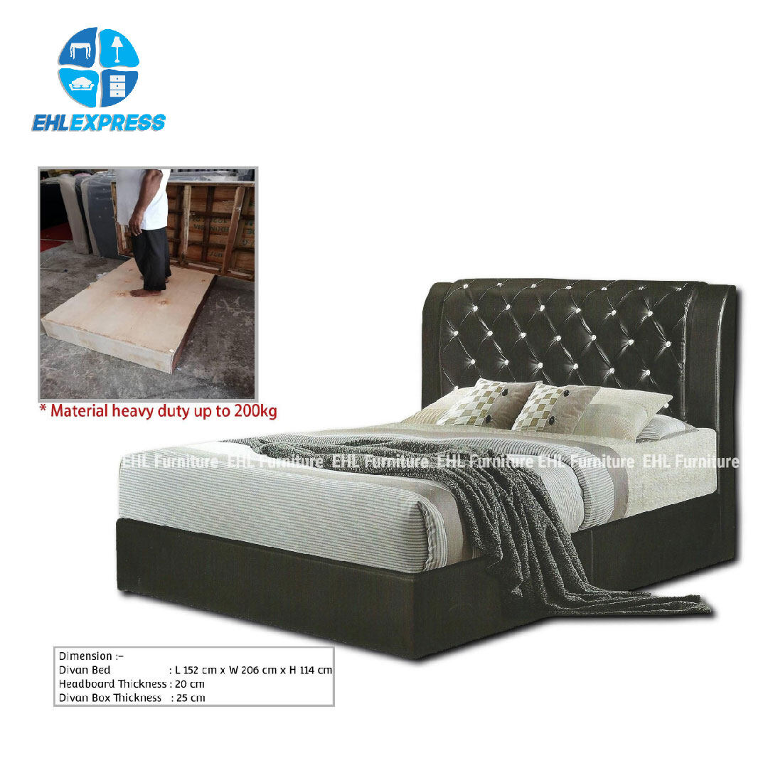 EHL EXPRESS Bedroom divan - HEAVY DUTY BED - 150KG (FREE Installation for klang valley only)