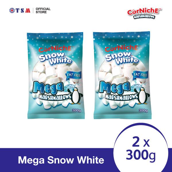 CORNICHE MARSHMALLOWS MEGA SNOW WHITE 300G X 2 PACKS