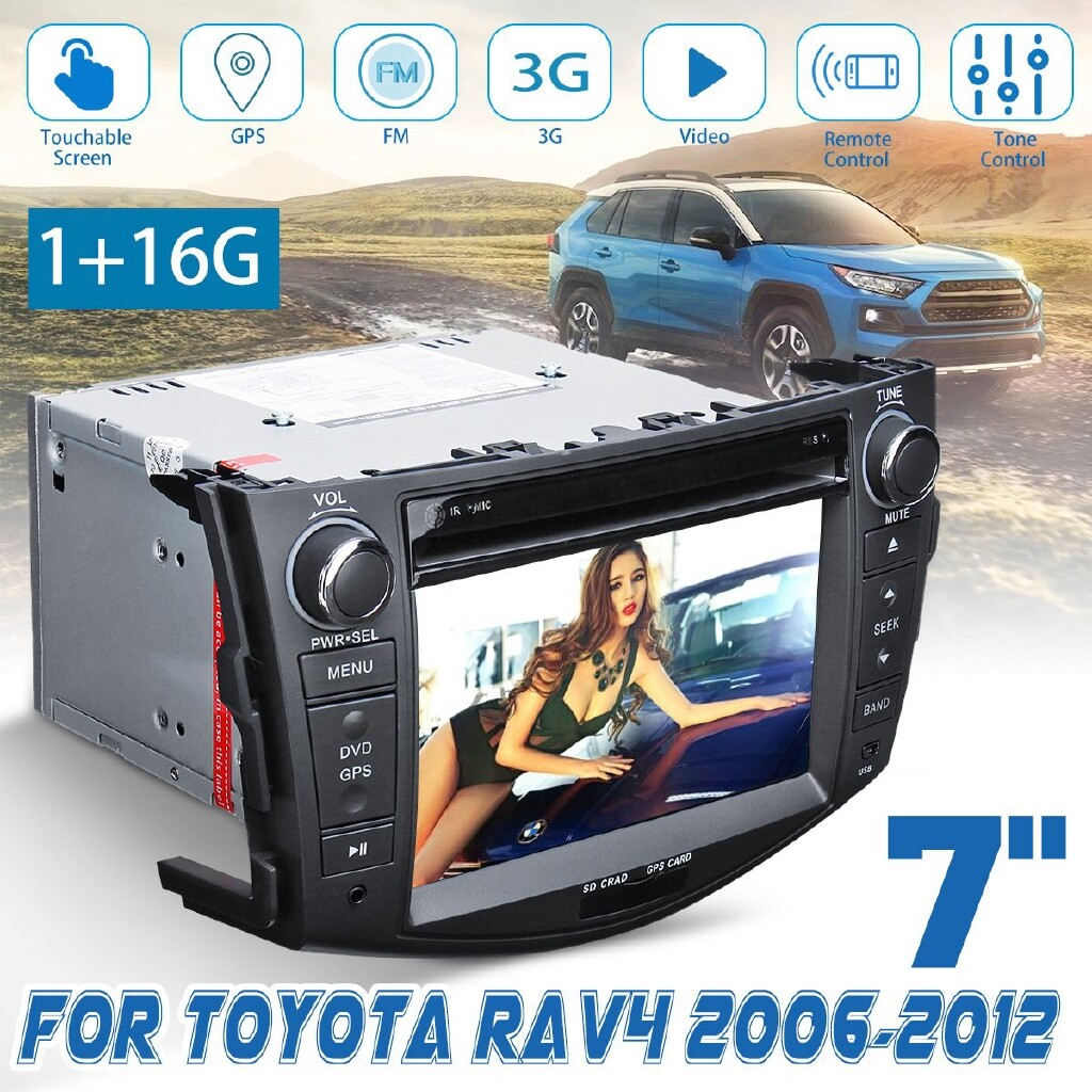 Vehicle GPS - For 06-12 Toyota RAV4 7\'\' 2Din Car Stereo Player Navigation BLUETOOTH Radio - Car Electronics