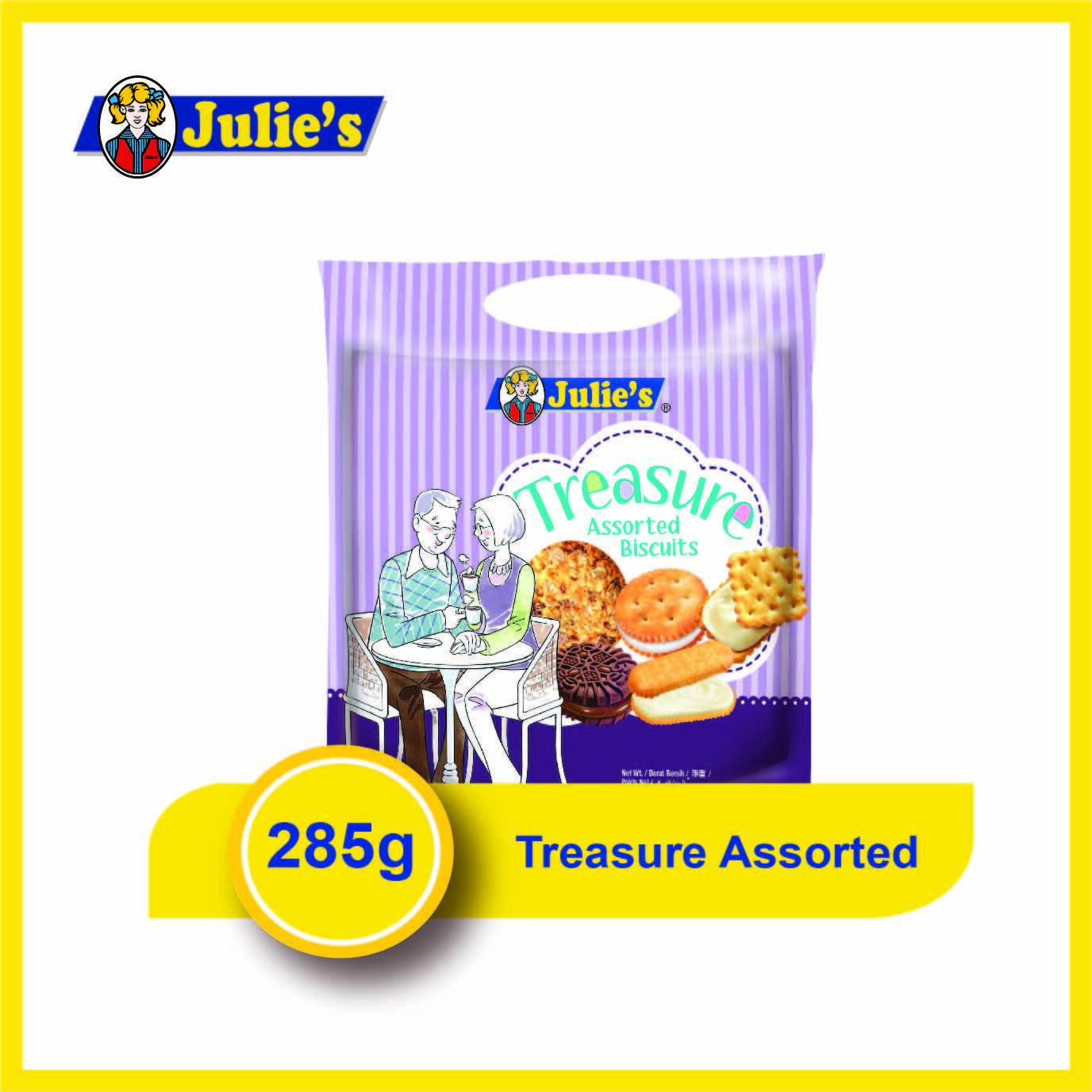 Julies Treasure Assorted Biscuits 285g x 1 pack