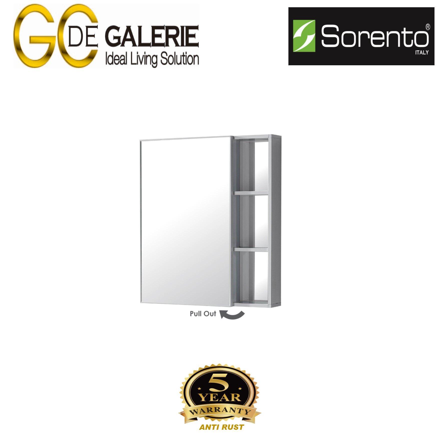 Sorento SRTMCB6084-WH Bathroom Aluminium Mirror Cabinet