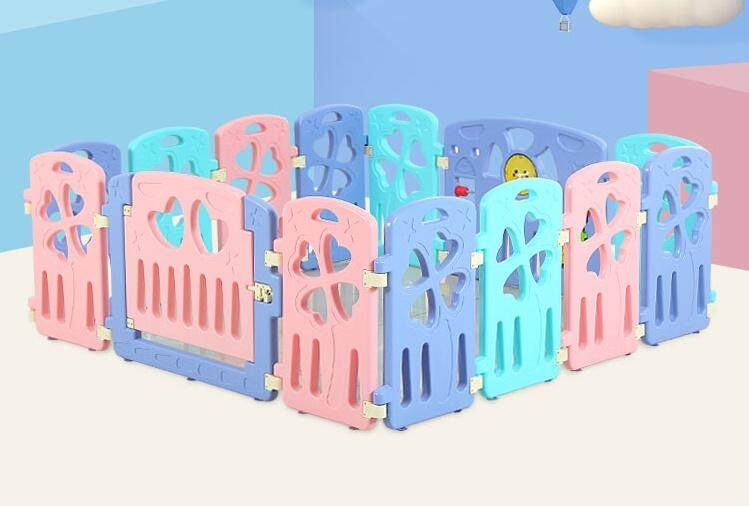 14 PANELS NEW COLOURS! Baby Playard Baby Play Yard Baby Fence Baby Safety Fence Hard Plastic Multicolour Pagar Bayi Pagar Baby Pagar Untuk Baby Pagar Keselamatan Bayi Pagar Mainan Baby Pagar Mainan Bayi Baby Fence Baby Play Fence (RANDOM DESIGN)