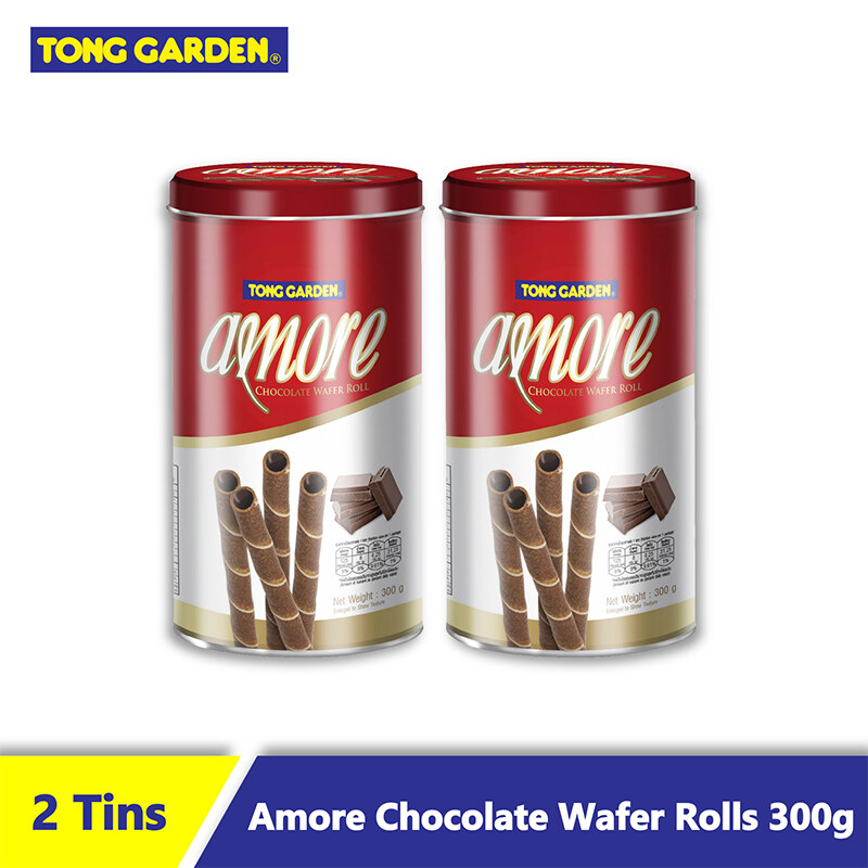 AMORE Chocolate Wafer Roll 300g [Bundle of 2]