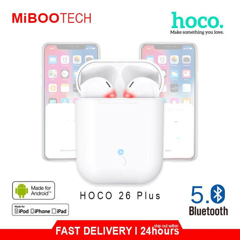 [Miboo] NewUpgade ES 26 Plus Hoco Earbuds No Sound Delay Hight Quality Wireless Headset Airbuds Best For Play PUBG / Music / Movie / Game