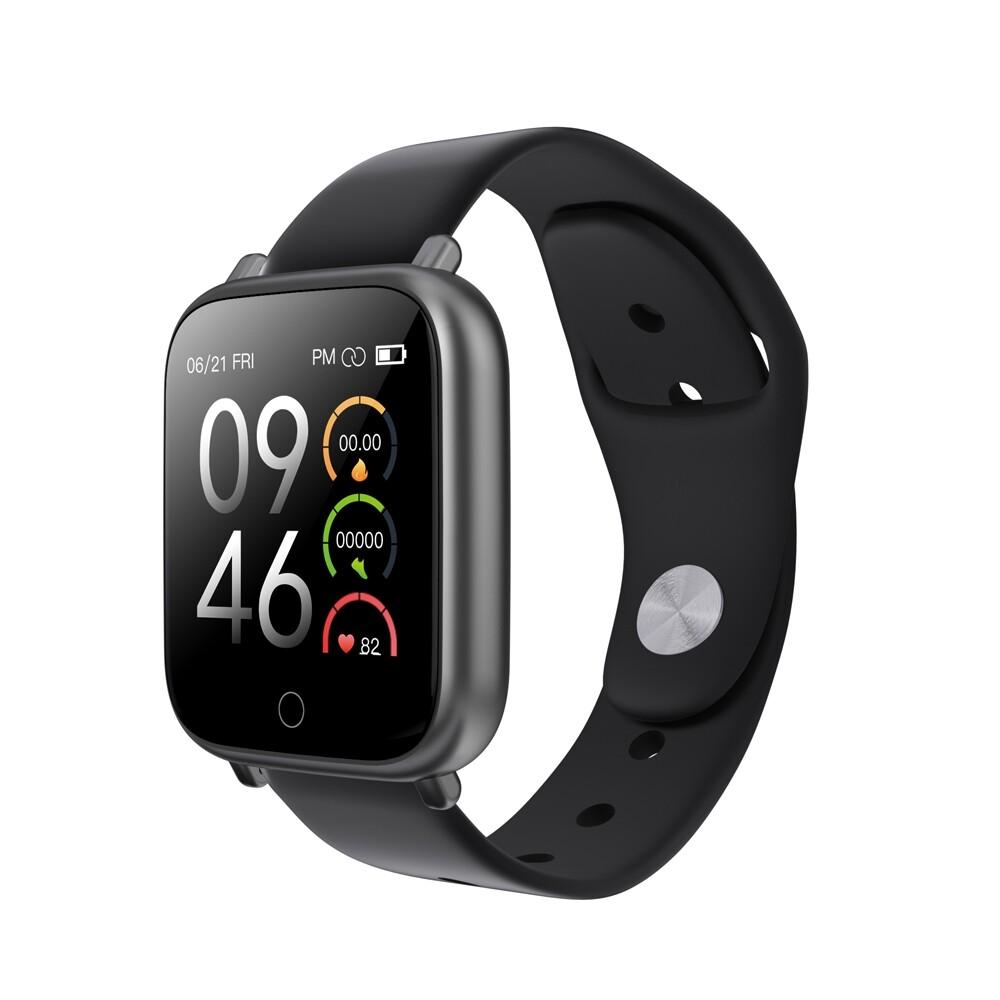 Smart Watch - Q1S BT5.0 Aluminum Shell Wristband IP68 Waterproof Heart Rate Blood Pressure Monitor Camera - ROSE GOLD / BLACK / SILVER