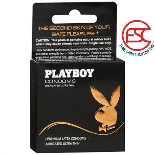 [FSC] Playboy Premium Latex Condom 3s Ultra Thin