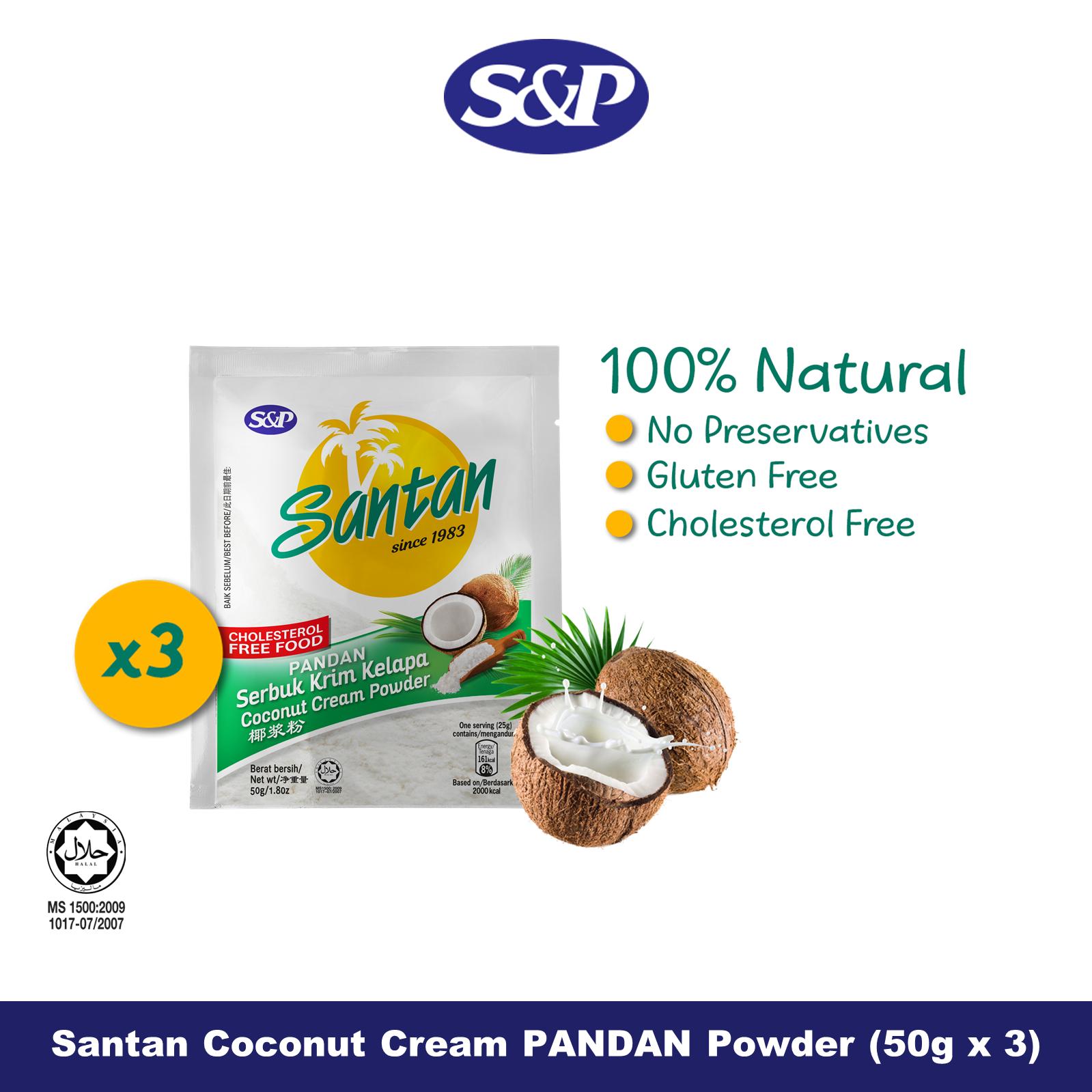 S&P Santan Coconut Cream Powder PANDAN Serbuk Santan Kelapa (50g x3)