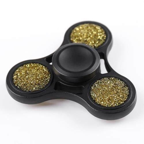 ANTI-STRESS TOY GLITTER FIDGET METAL SPINNER (BLACK) toys for girls