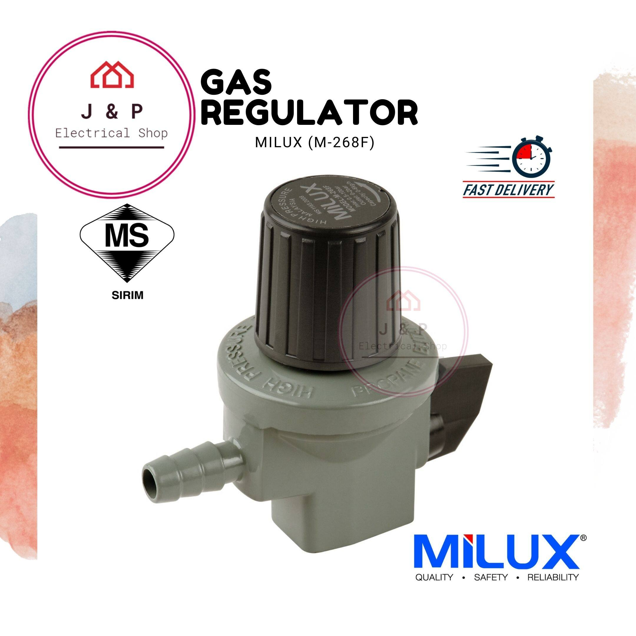 MILUX Gas Regulator (High Pressure) M-268F 煤气头 [Ready Stock 现货]1542462144-1603023268757-0