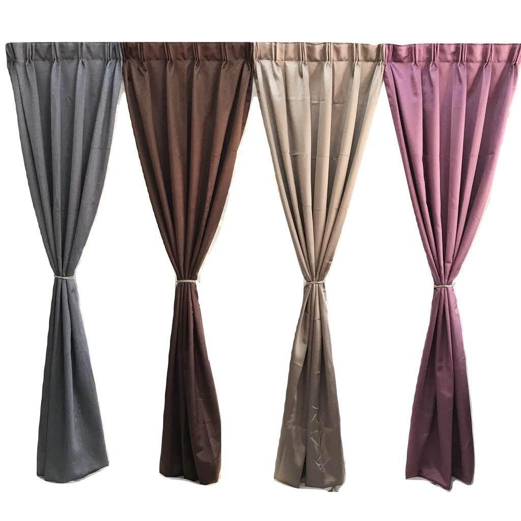 Shangarila Blackout Curtain (80%) With Hook or Eyelet Type (Size: W190 H260cm)