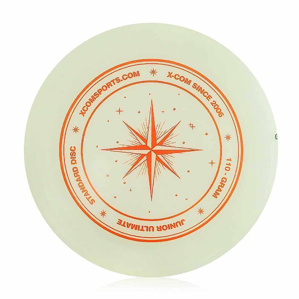 9.3 Inch 110g Plastic Flying Discs Outdoor Play Toy Sport Disc for Juniors (White With Orange)