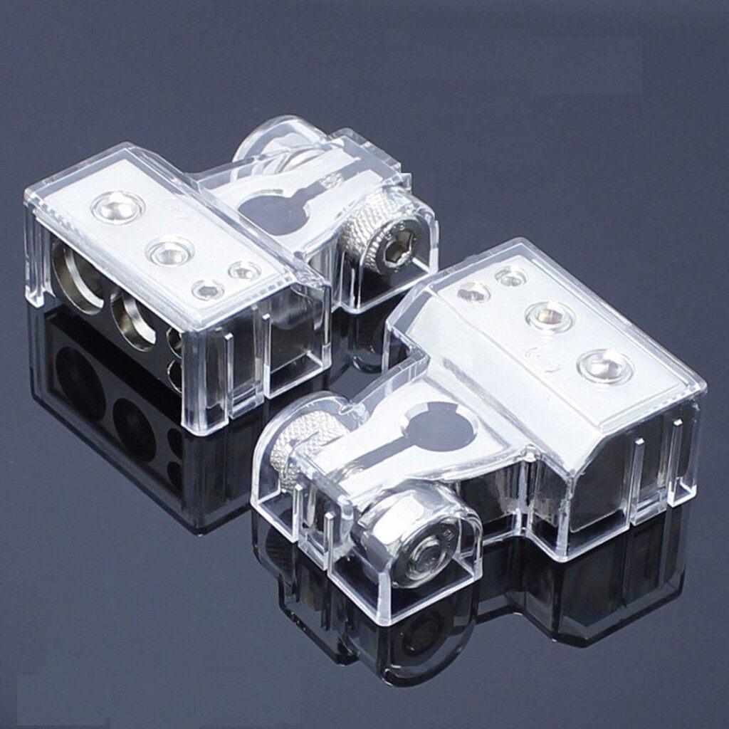 Interior Car Care - Pair Post 2 4 8 Car Battery Head Clip Transparent Terminal Protective Cover New