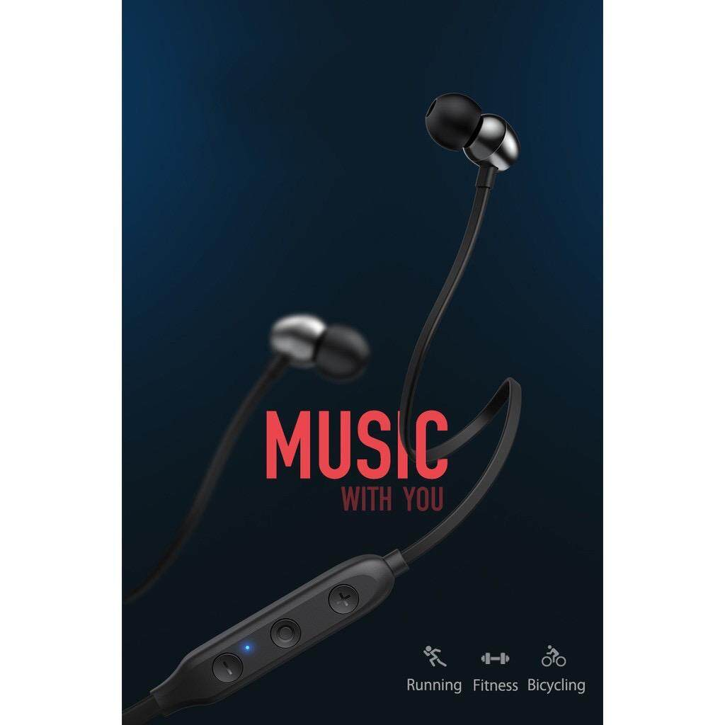 Yoobao YB-504 Wireless Bluetooth Neckband In-ear Earphone Extra Bass Whole Day Comfort with Button Control